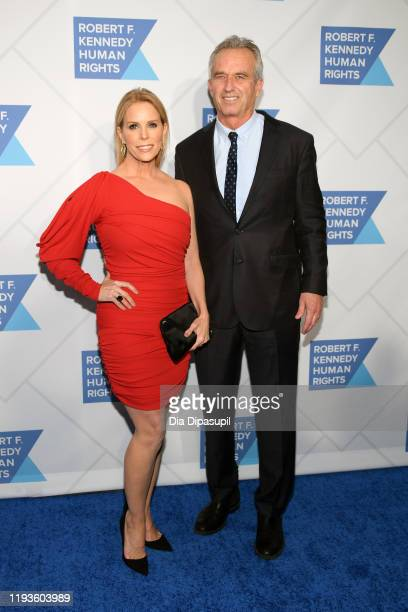 Cheryl Hines and Robert F Kennedy Jr arrive at the RFK Ripple of Hope Awards at New York Hilton Midtown on December 12 2019 in New York City