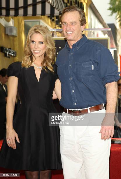 Cheryl Hines and Robert F Kennedy Jr attend the ceremony honoring Cheryl Hines with a Star on The Hollywood Walk of Fame held on January 29 2014 in...