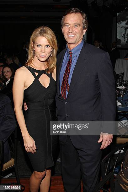 Cheryl Hines and Robert F Kennedy Jr attend the Robert F Kennedy Center for Justice and Human Rights 2011 Ripple of Hope Awards dinner at Pier Sixty...