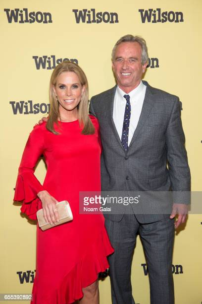 Cheryl Hines and Robert F Kennedy Jr attend the 'Wilson' New York screening at the Whitby Hotel on March 19 2017 in New York City