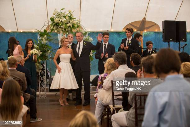 Cheryl Hines and Robert F Kennedy Jr Wedding at a private home with Kyra Kick Kennedy William Shultz RFK III Conor Kennedy Finbar Kennedy and Aiden...