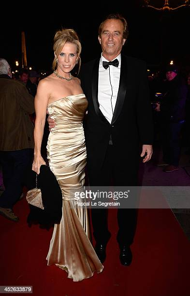 Cheryl Hines and Robert Kennedy Jr arrive at the debutante ball at Automobile Club De France on November 30 2013 in Paris France