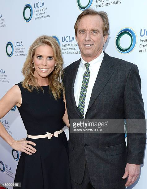 Cheryl Hines and Robert Kennedy Jr attend an Evening of Environmental Excellence presented by The UCLA Institute Of The Environment And...