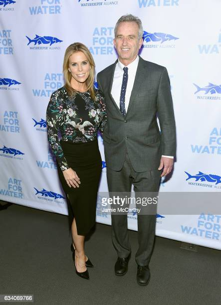 Cheryl Hines and Robert Kennedy Jr attend the 2017 Art For Water To benefit Waterkeeper Alliance at Sotheby's on February 6 2017 in New York City