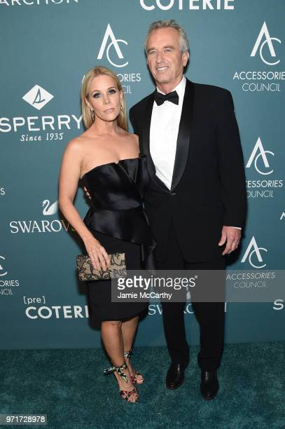 Cheryl Hines and Waterkeeper Alliance President Bobby Kennedy attend the 22nd Annual Accessories Council ACE Awards at Cipriani 42nd Street on June...
