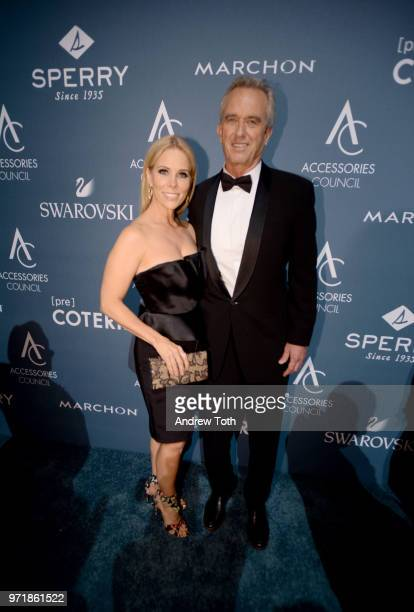 Cheryl Hines and Waterkeeper Alliance President Bobby Kennedy attend the 2018 ACE Awards announcing the Waterkeeper Alliance Partnership sponsored by...