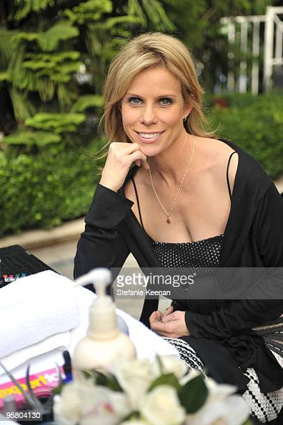 Cheryl Hines appears at Day One of The InStyle Golden Globes Beauty Lounge 2010 atFour Seasons Hotel on January 15, 2010 in Beverly Hills, California.