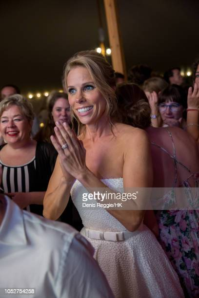Cheryl Hines attends Cheryl Hines and Robert F Kennedy Jr Wedding at a private home on Saturday August 2 in Hyannis Port Massachusetts United...