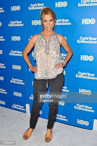 Cheryl Hines attends the Curb Your Enthusiasm Season 8 premiere at the Time Warner Screening Room on July 6 2011 in New York City
