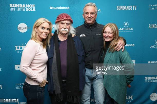 Cheryl Hines David Crosby Robert Kennedy Jr and Jan Dance attend the 'Anthropocene The Human Epoch' Premiere during the 2019 Sundance Film Festival...
