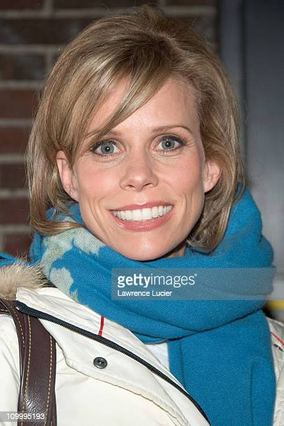 Cheryl Hines during Cheryl Hines and Anna Nalick Appear Outside The Late Show with David Letterman - January 19, 2006 at Ed Sullivan Theater in New...