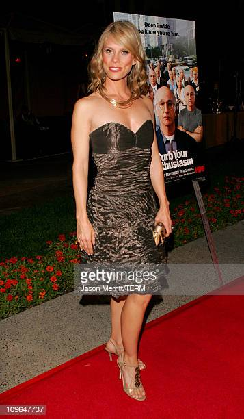 Cheryl Hines during Curb Your Enthusiasm Season 5 Premiere Screening Red Carpet at Paramount Theater at Paramount Pictures Lot in Hollywood...