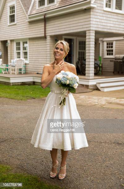 Cheryl Hines is seen during the Cheryl Hines and Robert F Kennedy Jr wedding at a private home on Saturday August 2 in Hyannis Port Massachusetts...