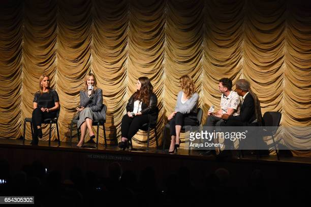 Cheryl Hines Judy Greer Isabella Amara Laura Dern Craig Johnson and Elvis Mitchell attend the Film Independent at LACMA Screening and QA of 'Wilson'...