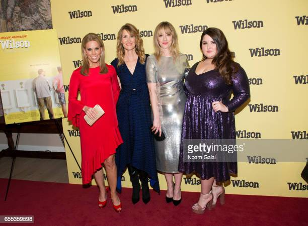 Cheryl Hines Laura Dern Judy Greer and Isabella Amara attends the 'Wilson' New York screening at the Whitby Hotel on March 19 2017 in New York City