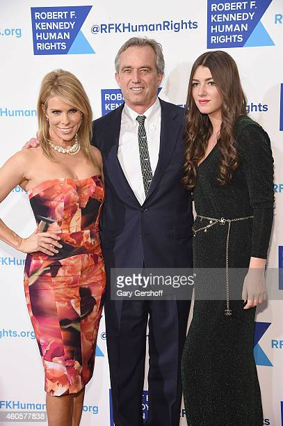 Cheryl Hines Robert F Kennedy Jr and Mariah Kennedy Cuomo attend the 2014 RFK Ripple Of Hope Awards at New York Hilton on December 16 2014 in New...