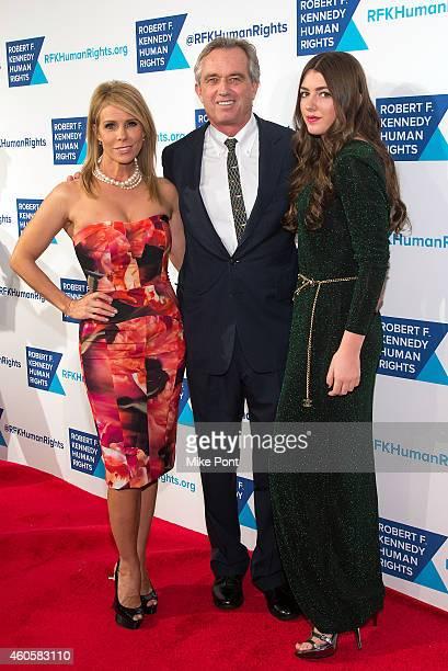 Cheryl Hines Robert F Kennedy Jr and Mariah Kennedy Cuomo attend the 2014 Robert F Kennedy Ripple Of Hope Awards at the New York Hilton on December...