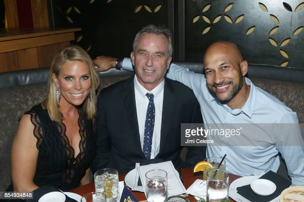 Cheryl Hines Robert Kennedy Jr and Keegan Michael Key attend the Curb Your Enthusiasm Season 9 premiere after party at TAO Downtown on September 27...