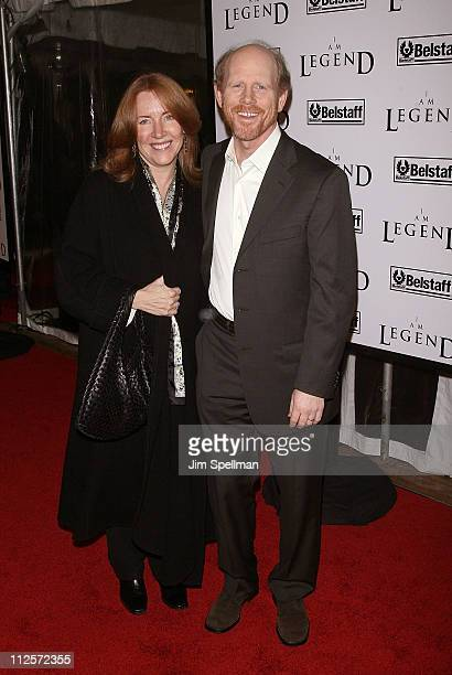 Cheryl Howard and Director Ron Howard arrives at the I Am Legend New York Premiere at Theater at Madison Square Garden on December 11 2007 in New...