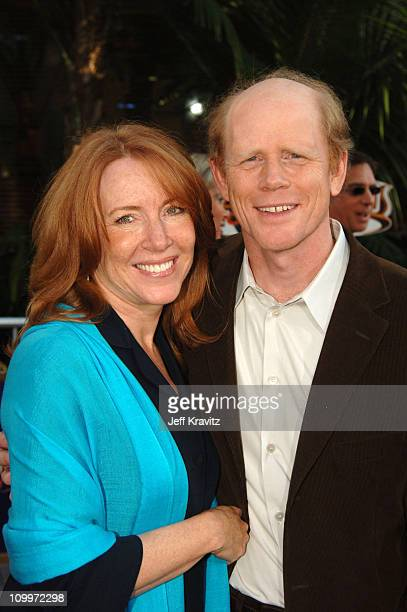 Cheryl Howard and Ron Howard during Cinderella Man Los Angeles Premiere at Gibsob Amphitheater in Universal City California United States