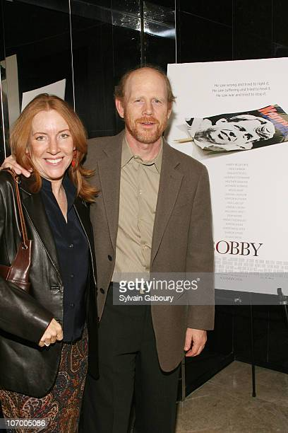 Cheryl Howard and Ron Howard during Harvey Weinstein Hosts a Private Screening of Bobby for Senators Obama and Schumer Inside Arrivals at Disney...