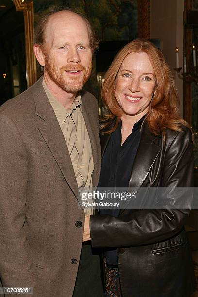 Cheryl Howard and Ron Howard during Harvey Weinstein Hosts a Private Dinner and Screening of Bobby for Senators Obama and Schumer at Plaza Athenee at...