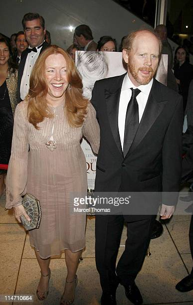 Cheryl Howard and Ron Howard during New York Film Festival premiere of Miramax Films The Queen Arrivals at Lincoln Center in New York City New York...
