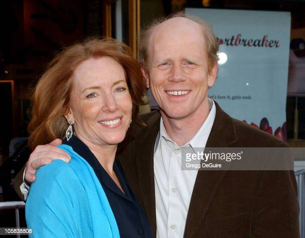 Cheryl Howard Crew and Ron Howard during Cinderella Man Los Angeles Premiere Arrivals at The Gibson Amphitheatre in Universal City California United...