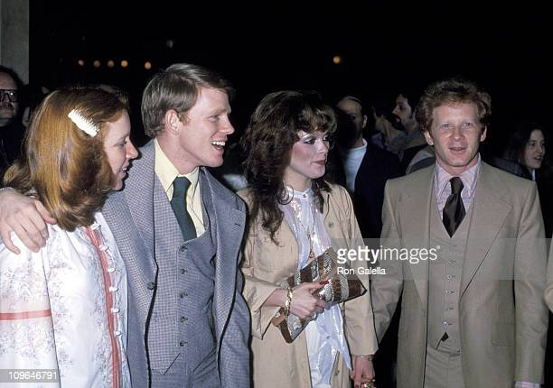 """Cheryl Howard, Ron Howard, Donny Most and date during """"Appearing Nightly"""" Hollywood Premiere - January 30, 1978 at Huntington Hartford Theater in..."""