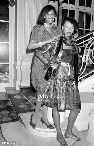 Cheryl huggins and Reginald Knight who both studied to the London School of Fashion designed these clothes Debbie wore 'Fantasy Bubble' evening dress...