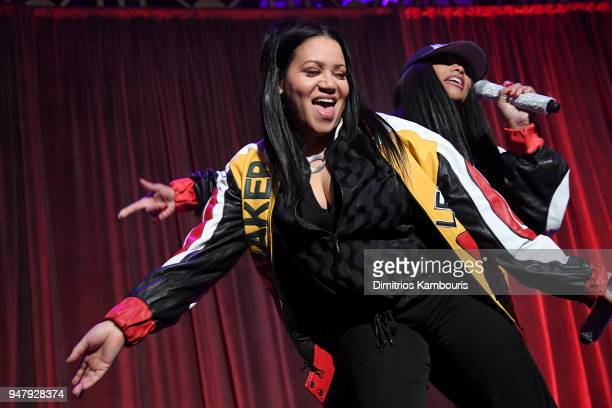 Cheryl James and Sandra Denton of SaltNPepa perform onstage during the Food Bank for New York City's Can Do Awards Dinner at Cipriani Wall Street on...