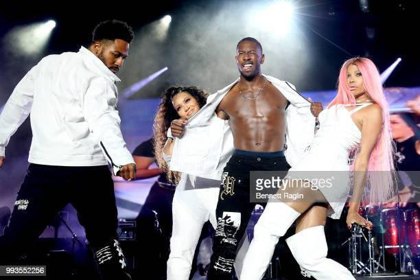 Cheryl James and Sandra Denton of SaltNPepa perform onstage during the 2018 Essence Festival presented By CocaCola Day 2 at Louisiana Superdome on...