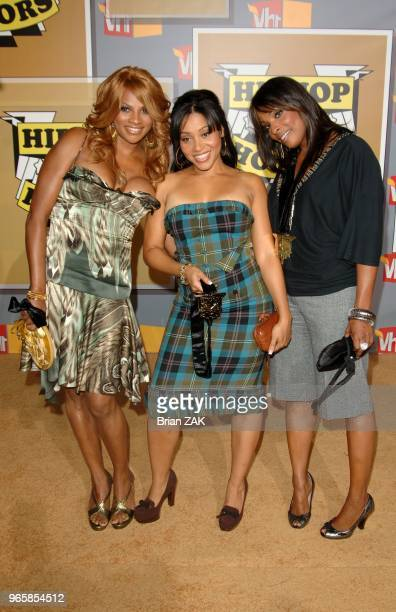 Cheryl James Sandy Denton and De De Roper of SaltNPepa arrive to the 2005 VH1 Hip Hop Honors held at the Hammerstein Ballroom New York City BRIAN ZAK