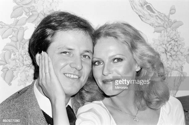 Cheryl Ladd american actress who plays Kris Munroe in television series Charlie's Angels pictured with husband David at the Berkeley Hotel...