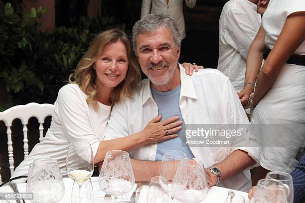 Cheryl Ladd and Biran Russell attend the White Party Dinner Hosted by Andrea and Veronica Bocelli Celebrating Celebrity Fight Night In Italy...