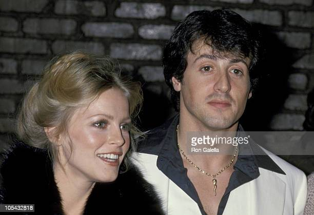 Cheryl Ladd And Sylvester Stallone during 'Paradise Alley' Wrapup Party at Unversal Studio 12 in Los Angeles California United States