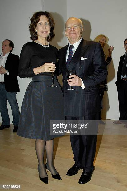 Cheryl Lefkovits and Albert Lefkovits attend LORA DRASNER's SUNSETS' at MARLBOROUGH GALLERY at Marlborough Gallery at 40 West 57th on April 30, 2008...