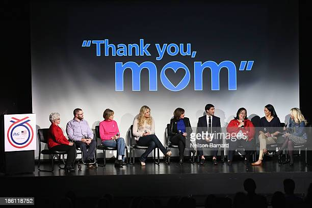 Cheryl Lipsett and her son Paralympian Taylor Lipsett, Lindy Lund and her daughter olympian Lindsey Vonn, Tanya Lysacek and her son olympian Evan...