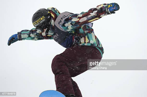 Cheryl Maas of Nederland is in action during women's slope style final of Burton US Open Vail Colorado March 7 2014