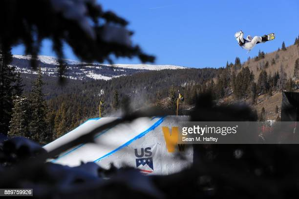 Cheryl Maas of Netherlands competes in the final of the FIS Snowboard World Cup 2018 Ladies' Big Air during the Toyota US Grand Prix on December 10...