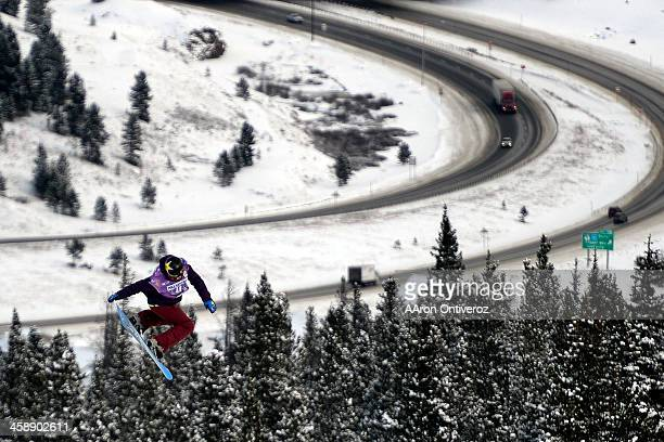 Cheryl Maas rides during the slopestyle finals of the Copper Moutain Grand Prix Riders competed in this stage of the FIS Snowboard World Cup 2014 on...