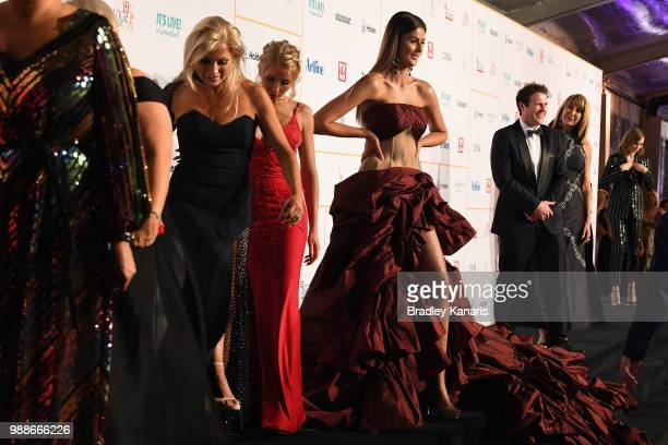 Cheryl Maitland and the cast of Married at First Sight arrive at the 60th Annual Logie Awards at The Star Gold Coast on July 1 2018 in Gold Coast...