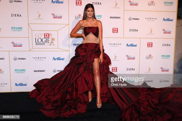 Cheryl Maitland arrives at the 60th Annual Logie Awards at The Star Gold Coast on July 1 2018 in Gold Coast Australia