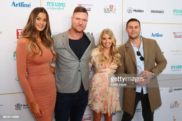 Cheryl Maitland Ashley Irvin Dean Wells and Ryan Gallagher attend the TV WEEK Logie Awards Nominations Party at The Star on May 27 2018 in Gold Coast...