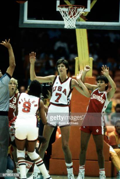 Cheryl Miller Anne Donovan Women's basketball competition US vs Canada The Forum at the 1984 Summer Olympics August 5 1984