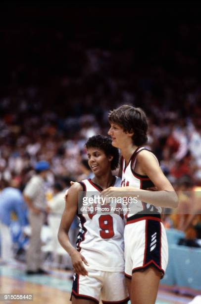 Cheryl Miller Anne Donovan Women's basketball competition US vs South Korea The Forum at the 1984 Summer Olympics August 7 1984