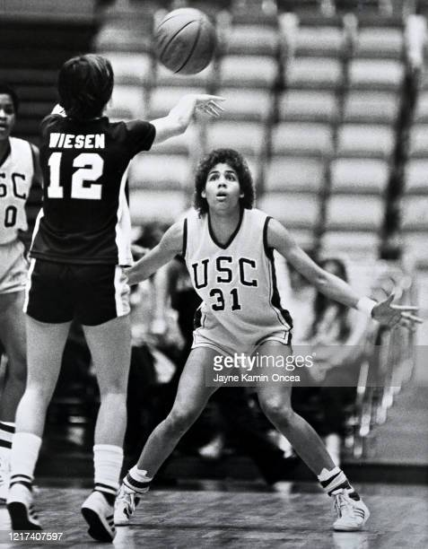 Cheryl Miller of the USC Trojans during a game at the Los Angeles Sports Arena in Los Angeles California