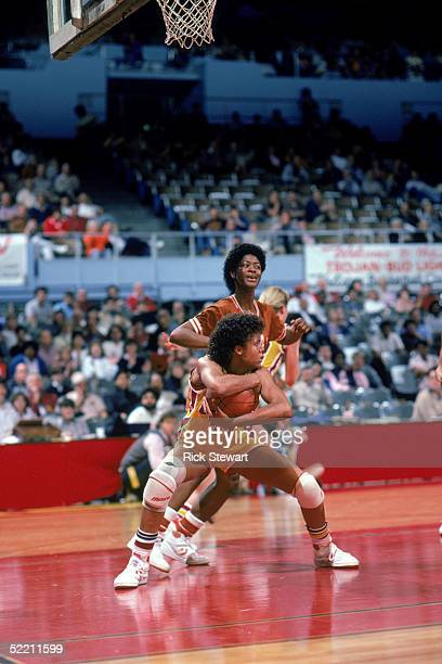 UNDATED Cheryl Miller of USC Trojans guards the ball during a women basketball game Cheryl Miller's college career lasted from 19831986