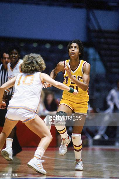 UNDATED Cheryl Miller of USC Trojans moves for the ball during a women basketball game Cheryl Miller's college career lasted from 19831986