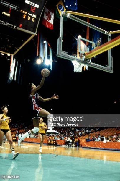 Cheryl Miller Women's basketball competition US vs Australia The Forum at the 1984 Summer Olympics July 31 1984